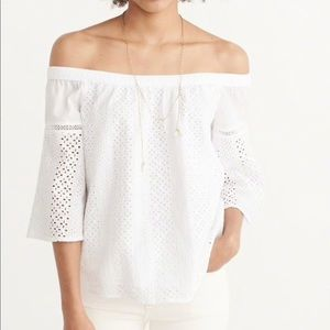 Abercrombie & Fitch Off The Shoulder Lace Blouse